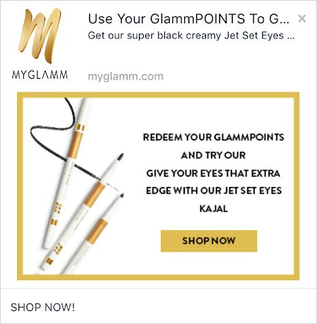 MyGlamm web push notifications