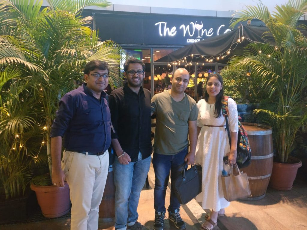 The EazyDiner team with Keyur Dhami (on the left) from WebEngage