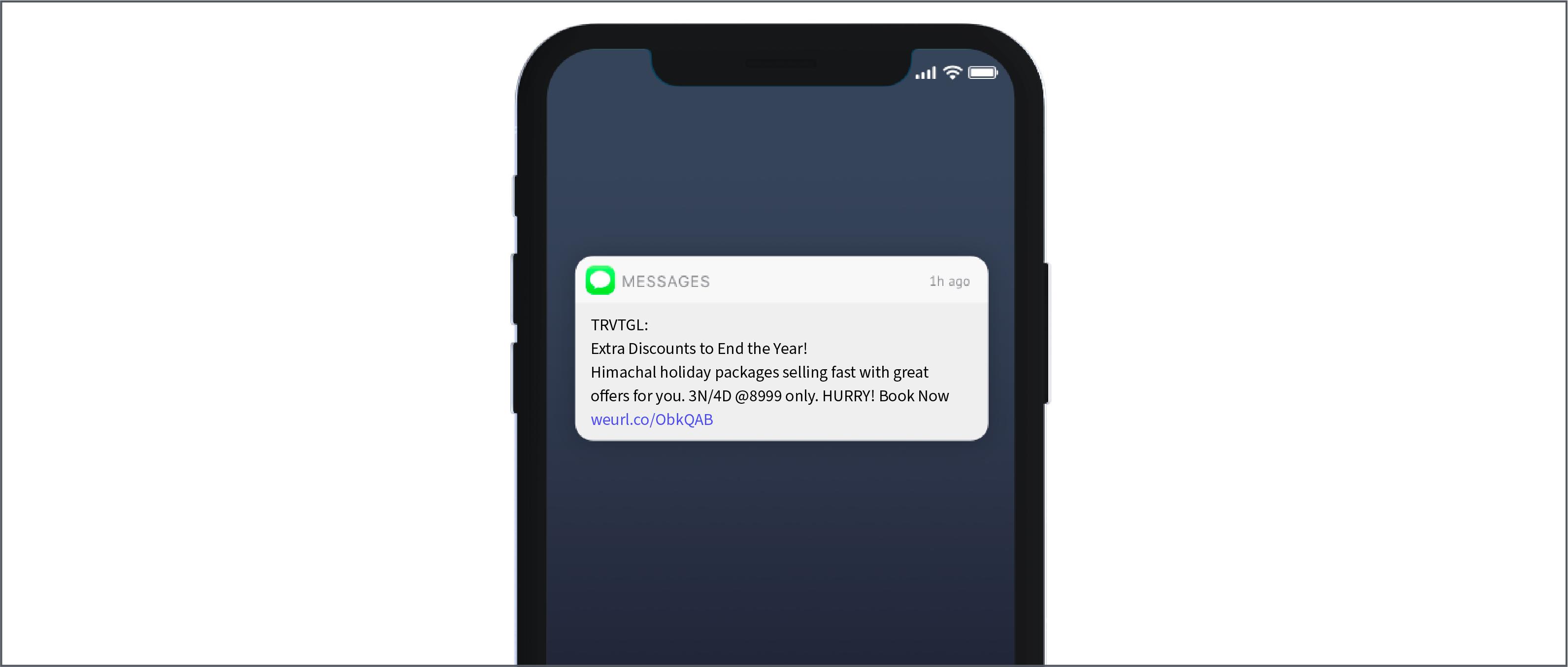 Traveltriangle SMS