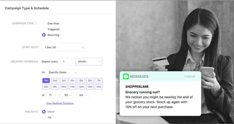 Save time & automate your Recurring Campaigns using Flexible Scheduling