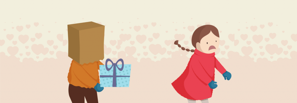 Anonymous gifting in Valentine's day