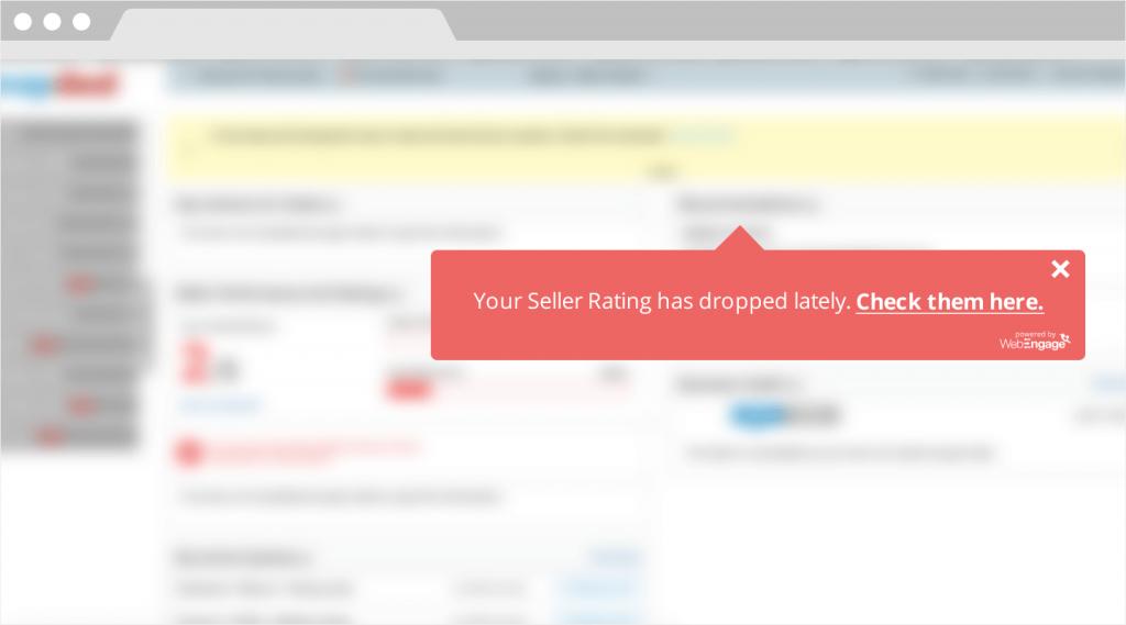 decreasing seller ratings E-commerce Seller Portals