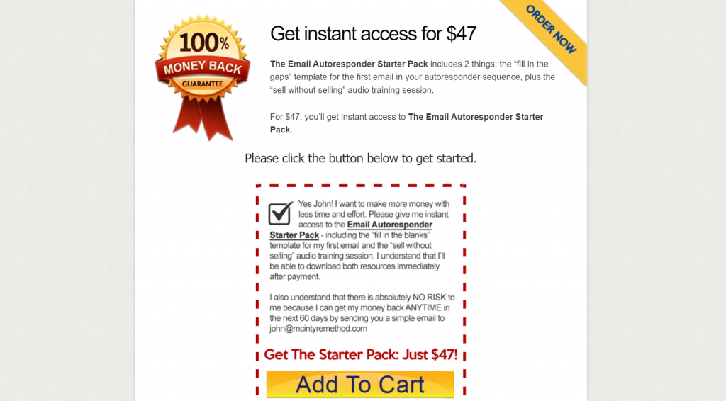 Convert Visitors to Buyers Email