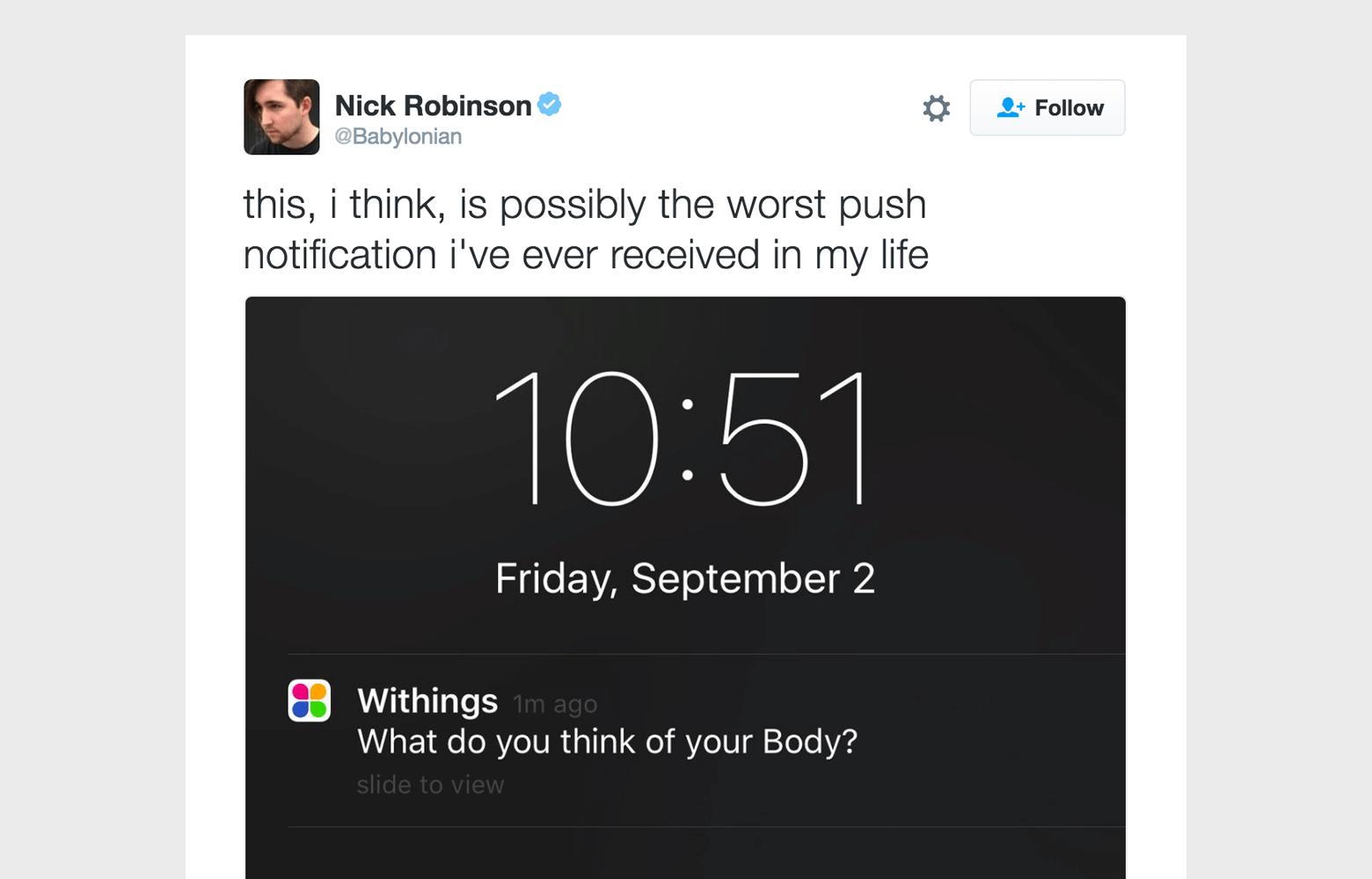 worst push notification