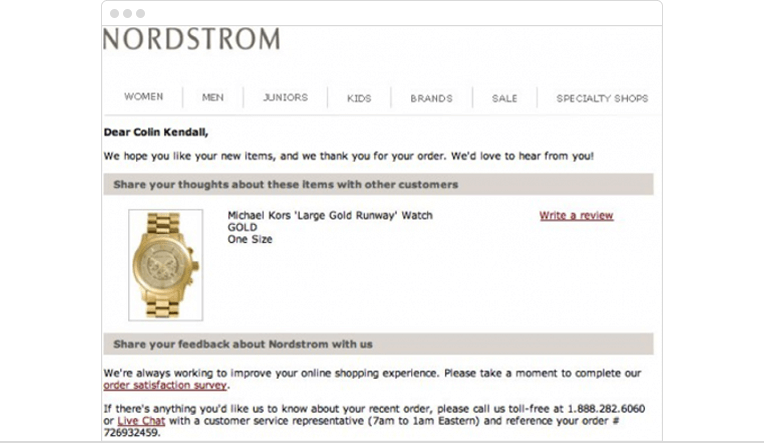 Requesting product feedback via email   E-commerce engagement