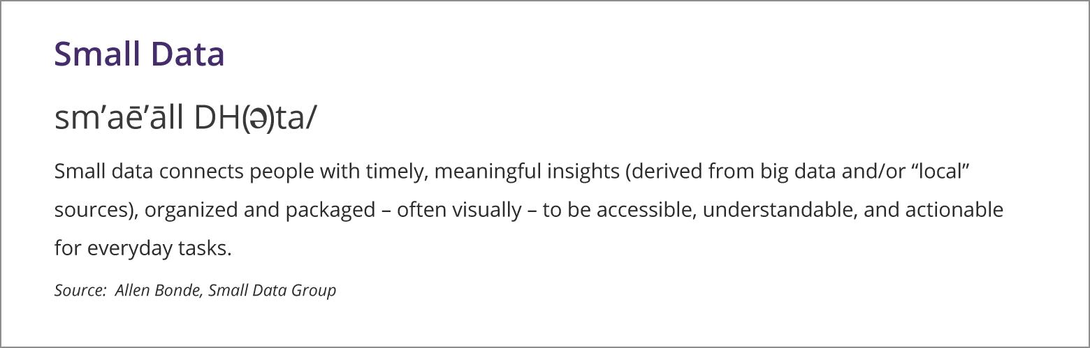 Small Data Definition by Allen Bonde