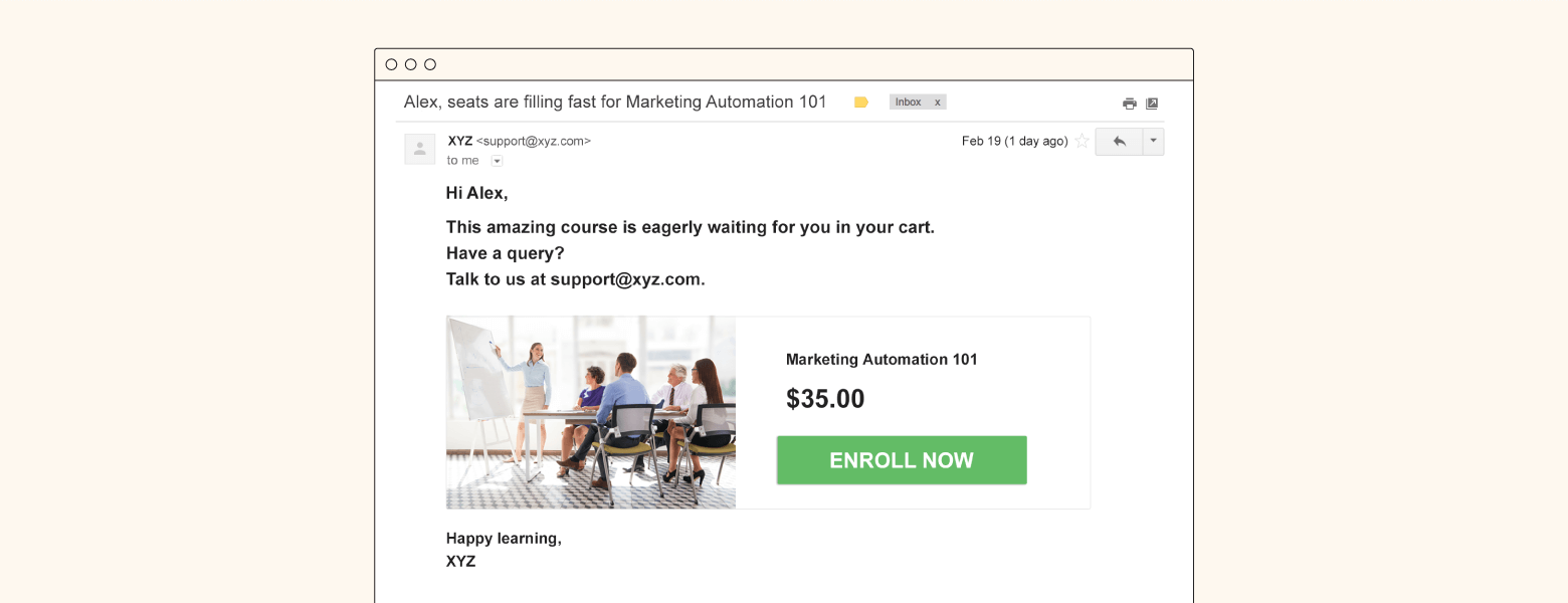 sample email example