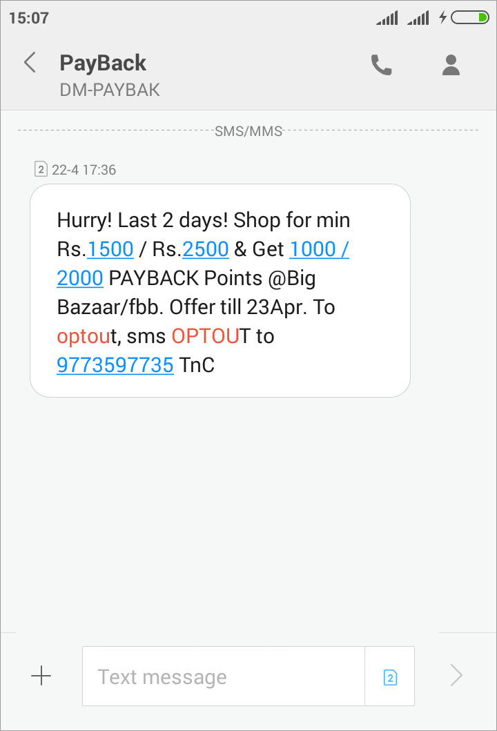 non-transactional message example