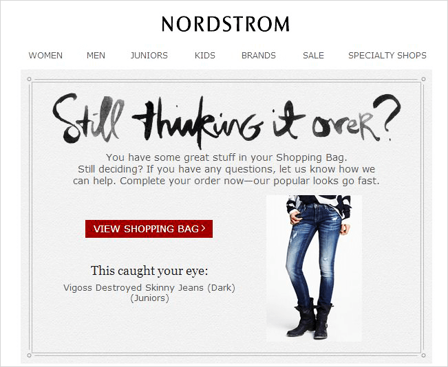nordstrom behaviour targeted example