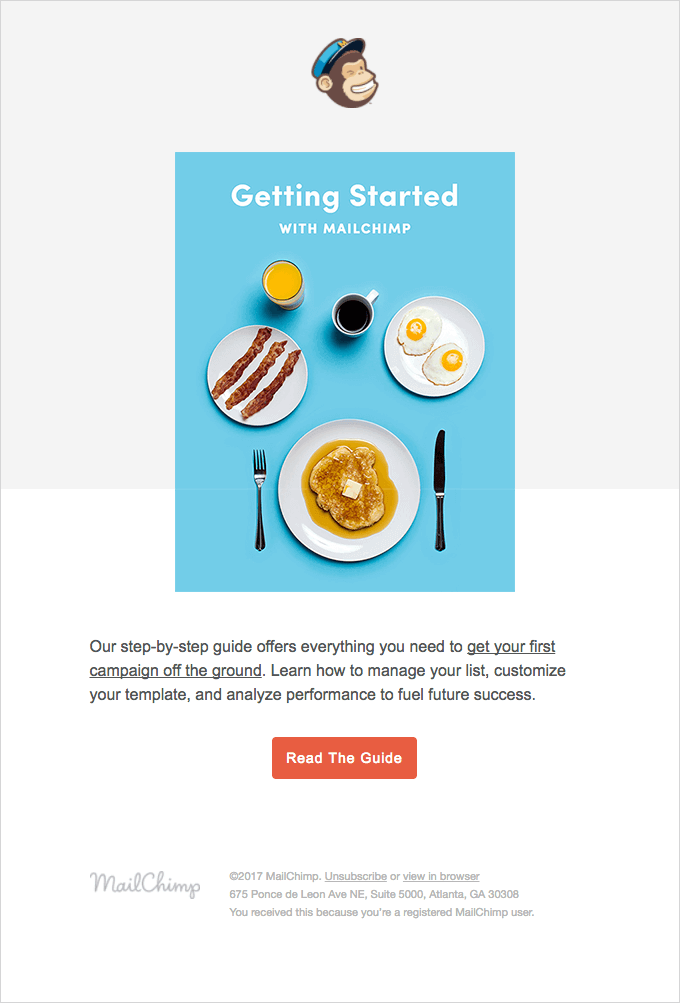 get started with mailchimp email