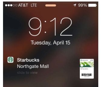 Starbucks Push Notification Example