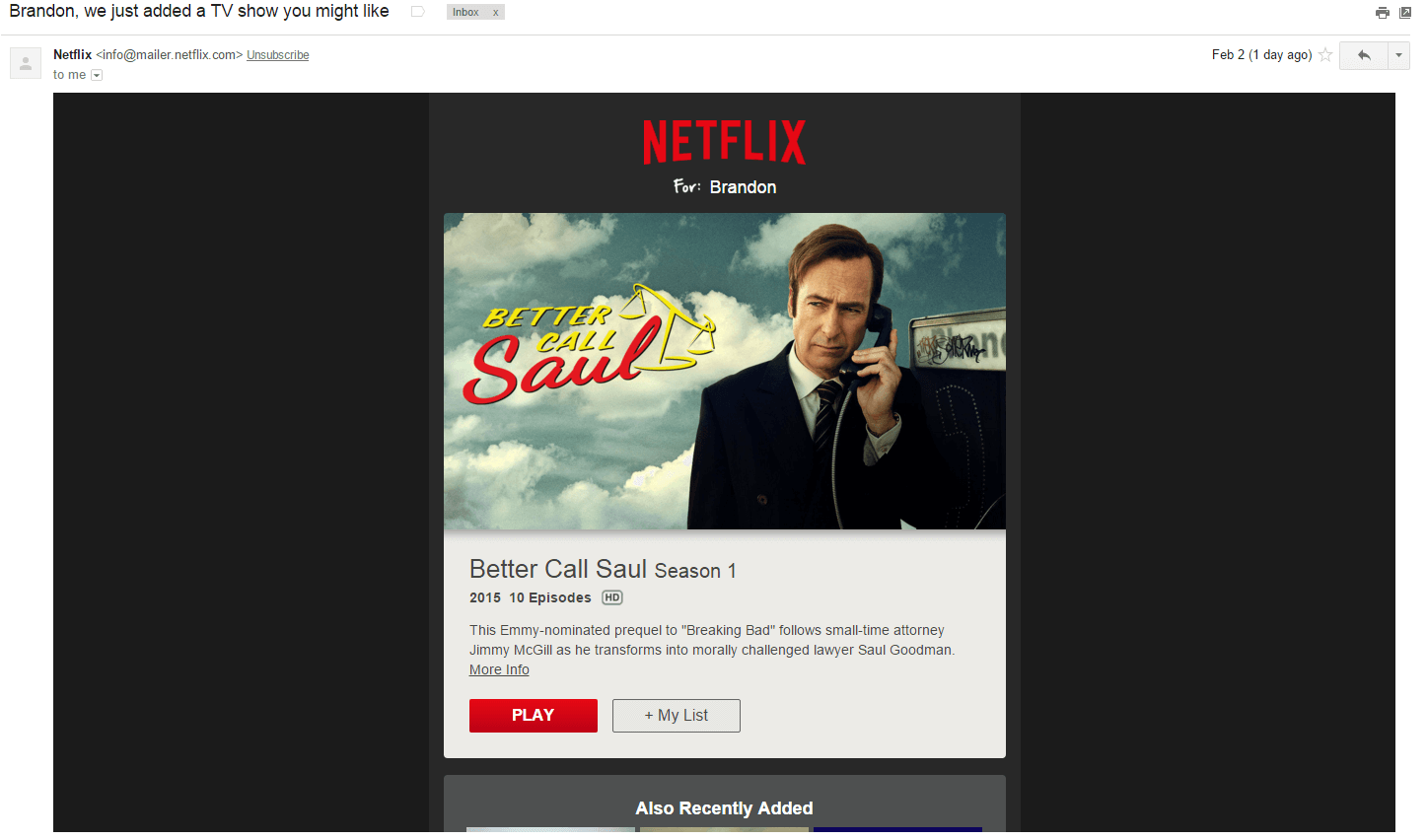 netflix email campaign