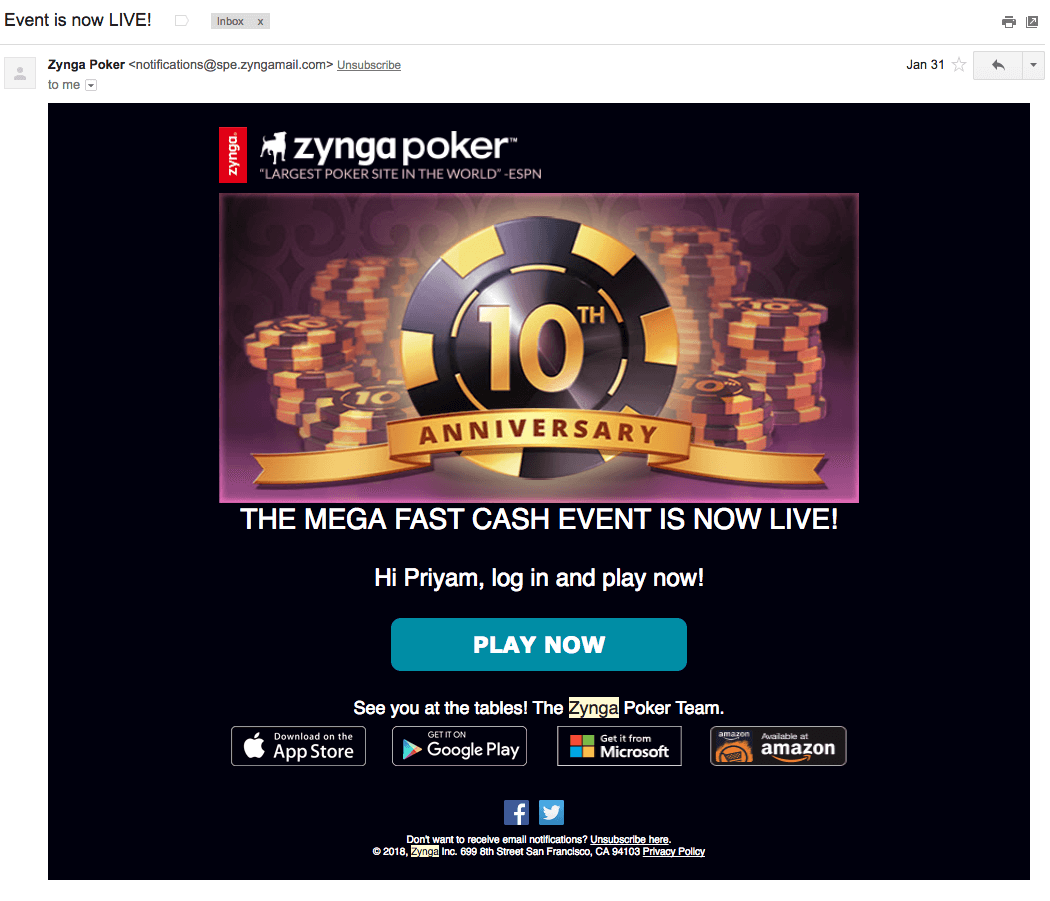 Zynga Poker uses multi channel to interect and communicate with its users online