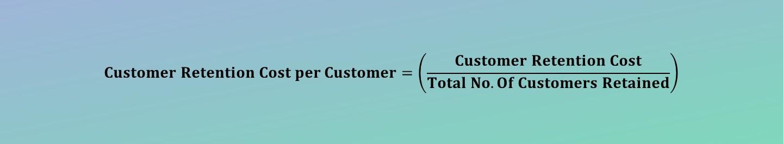 Customer Retention Cost Per Customer Calculator