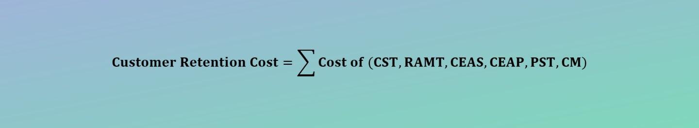 Customer Retention Cost Calculator
