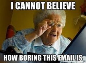 Interactive email content meme