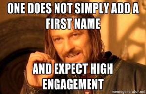 Email Personalization meme