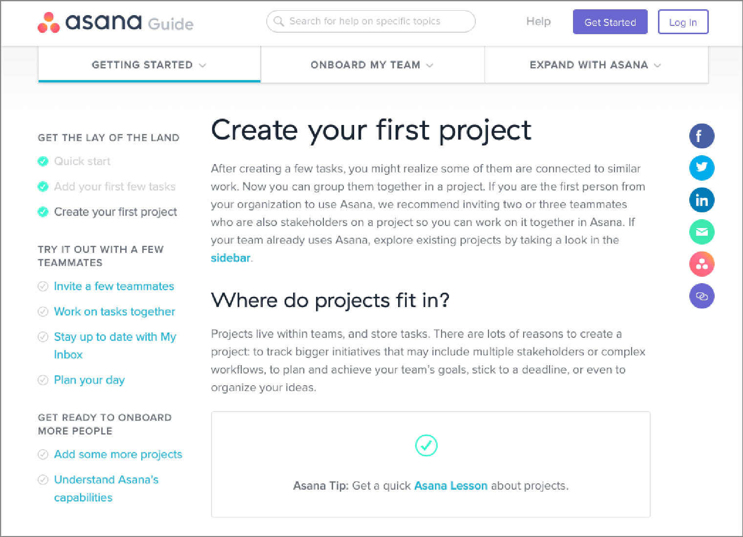 Asana's Self Help Option | WebEngage