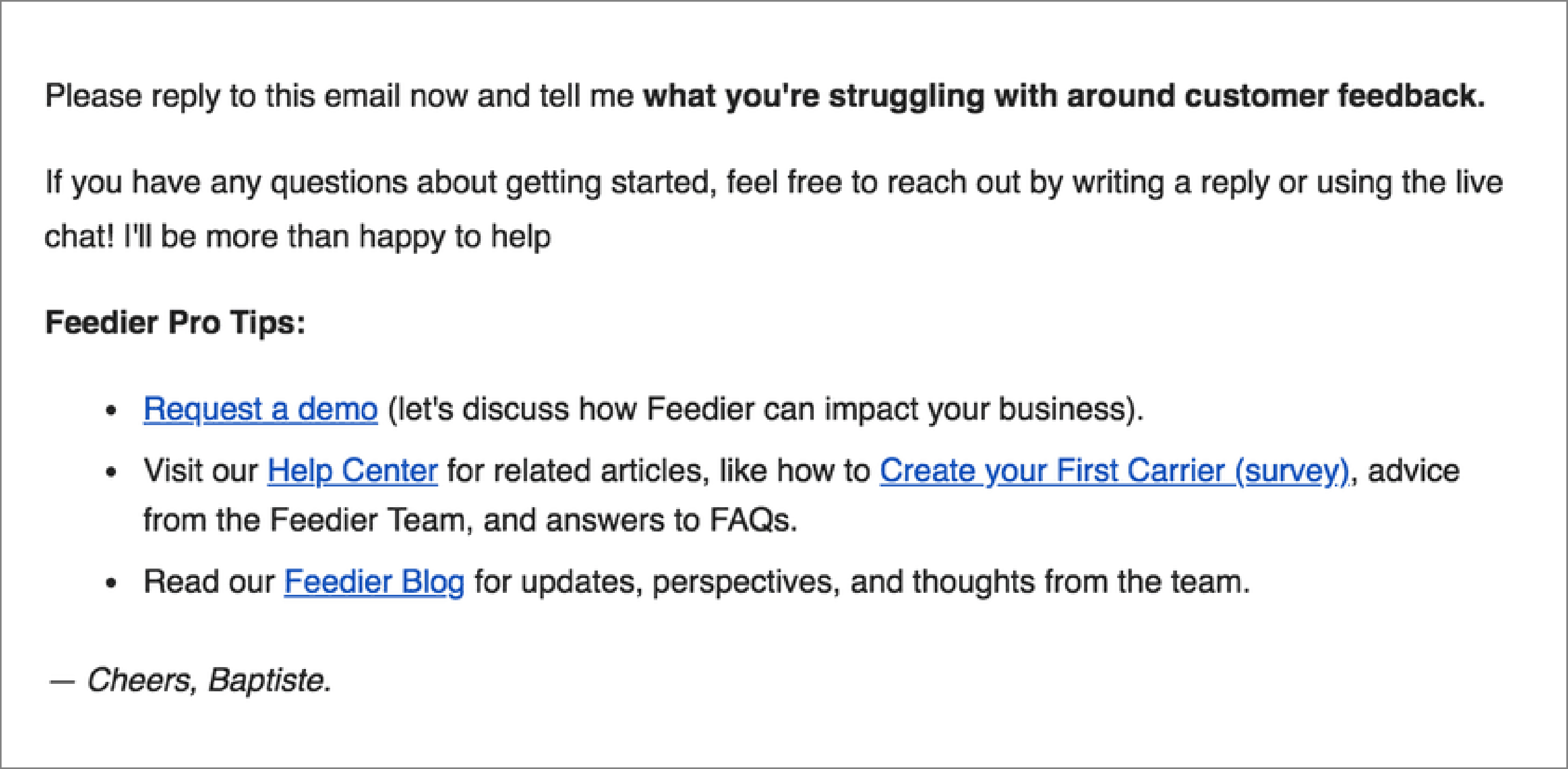 Feedier's Personalized Email Marketing | WebEngage